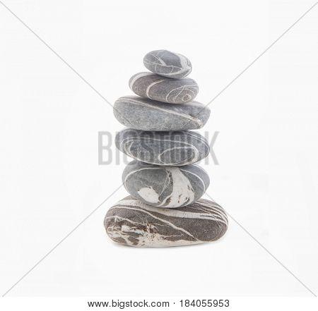 stone pyramid isolated