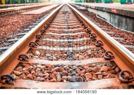 Rail track way station transportation in thailand
