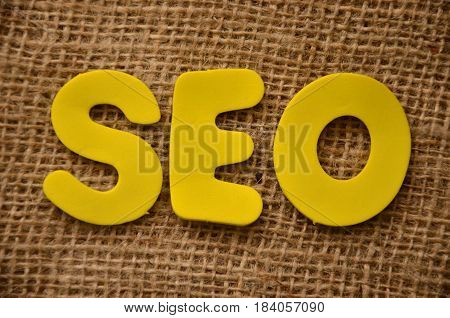 seo word on a   abstract col0orful background