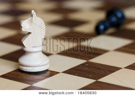 chess-board with figures