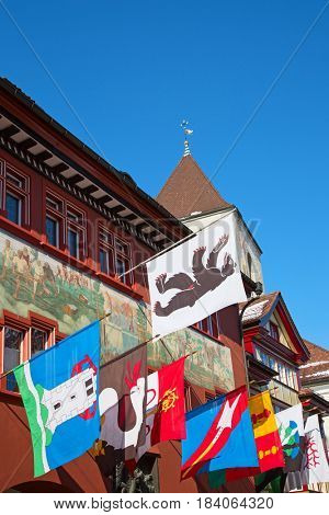 Decorated historical centre of the Appenzell city