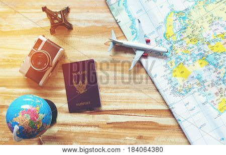 Travel planning concept on map, my travel around world