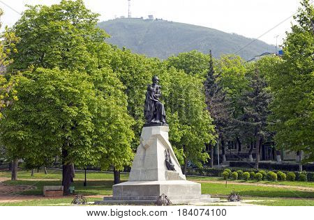 The best in the Russian monument poet Mikhail Yurievich Lermontov in Pyatigorsk, Northern Caucasus,Russia (sculptor Opekushin 1889)