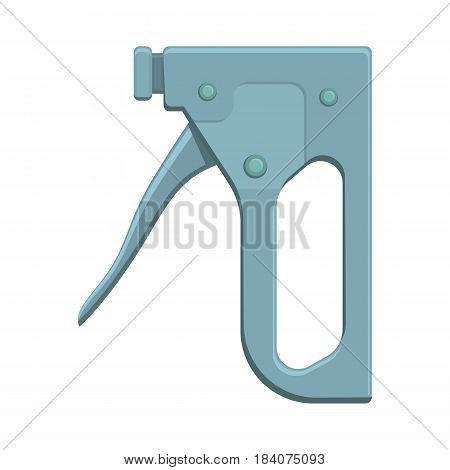 Construction stapler tool, colorful flat illustration. Vector