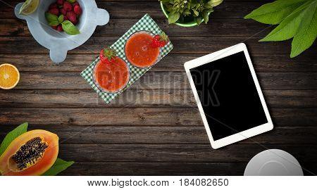 Fresh Fruit Exotic Background