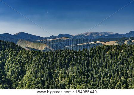 View of summer landscape Slovak mountains Big Fatra