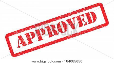 Approved icon vector stamp red on background