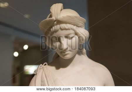 Pocahontas Marble Statue