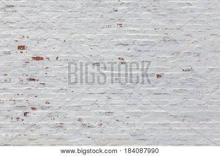 whitewash flat brick wall horizontal background texture