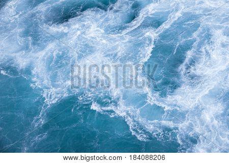 Sea blue transparent fresh ocean water background
