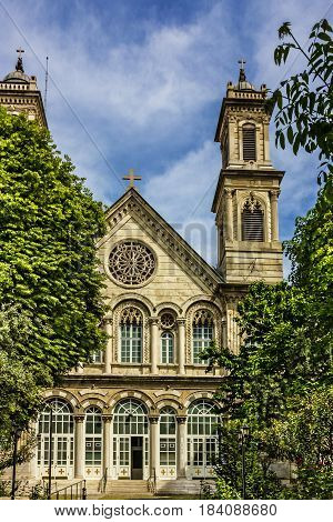 Old Greek Orthodox Christian church of Saint Triada near Taxim street, Istanbul, Turkey