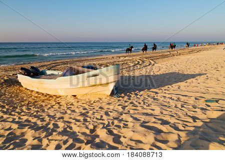 In Oman Arabic Sea     Sandy Beach