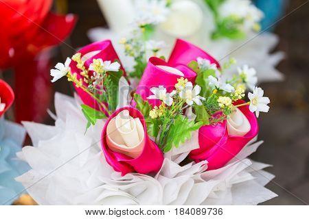 Artificial Bouquet Of Flowers
