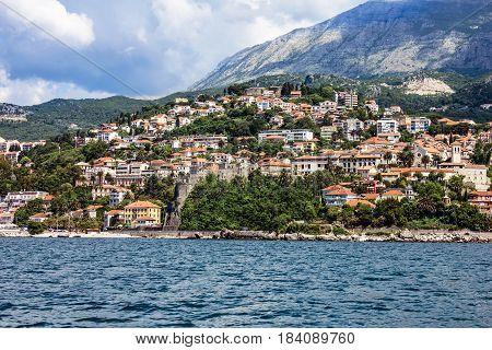 Kotor bay sea view seaside, Montenegro landscape