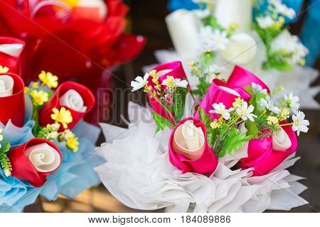 Artificial Bouquet Of Flowers