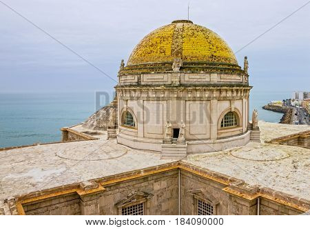 Cadiz, Spain. Cupola of Cathedral church building.
