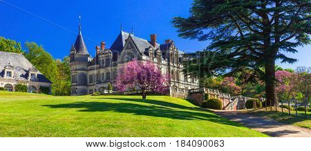 Romantic beautiful castles of Loire valley, France