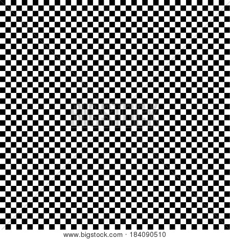 The black and white squares in a checkerboard pattern. Abstract background. Vector illustration.