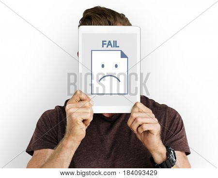 Sadness Fail Problem Recession Down Frustration Icon