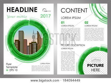 Vector Flyer, Corporate Business, Annual Report, Brochure Design And Cover Presentation With Vector