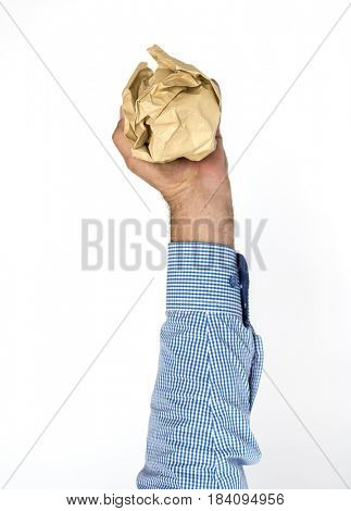 Hand Hold Show Recyclable Paper