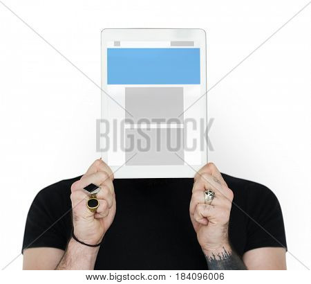 Graphic of blank template for web design interface