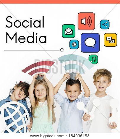 Social Media Communication Connection Concept