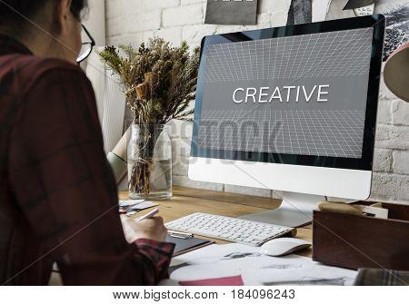 Web Design Layout Simulation Graphic