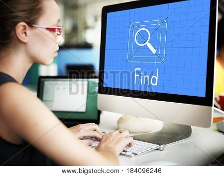 Data magnifier glass search online