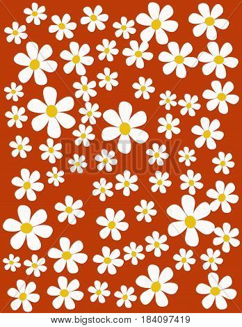 colorful spring flowers illustration art design with colored background