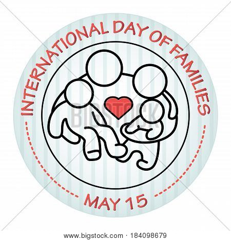International Day of Families. May 15. Family icon. Vector illustration