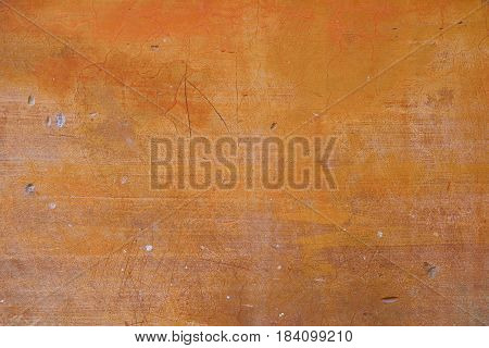 Old wall background ocher with damage texture.