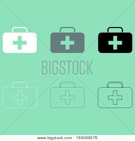 First Aid Set Or Medicine Chest Icon.
