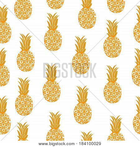Pineapple seamless texture. Pineapple background, wallpaper, fabric Vector illustration