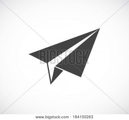 paper plane black icon