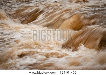 abstract nature background wild turbid water rapids