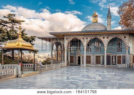 Ancient Ottoman residence Topkapi Palace Istanbul, Turkey.