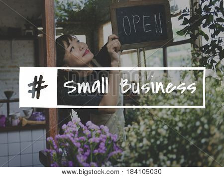 Flower Shop Store Florist Botany with Small Business Word