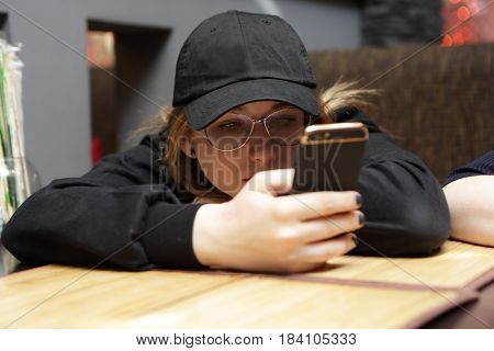 Teenager Girl With Smartphone