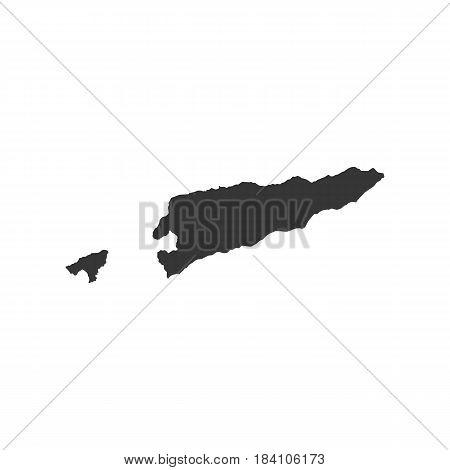 East Timor map on the white background. Vector illustration