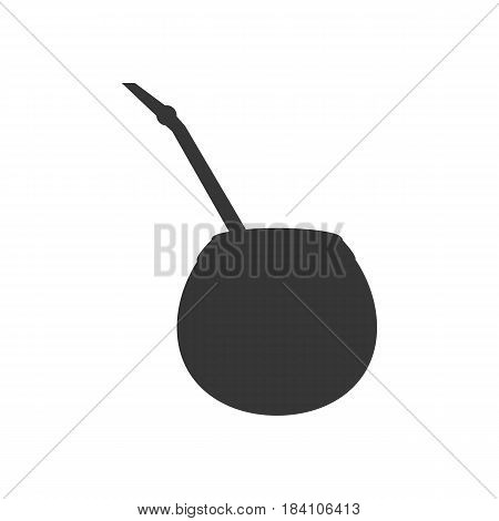 Calabash silhouette illustration on the white background. Vector illustration