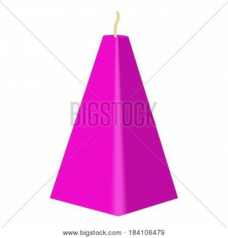 Purple conical candle icon. Cartoon illustration of purple conical candle vector icon for web