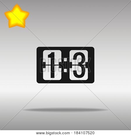 Scoreboard black Icon button logo symbol concept high quality on the gray background
