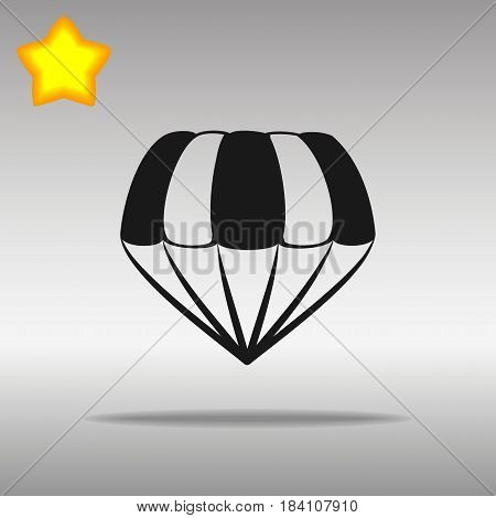 parachute black Icon button logo symbol concept high quality on the gray background