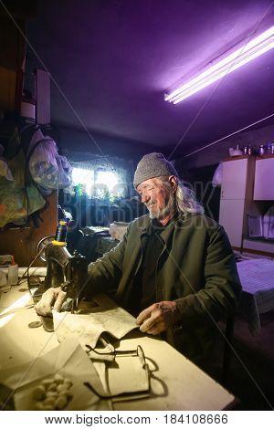 Senior Adult Sewing