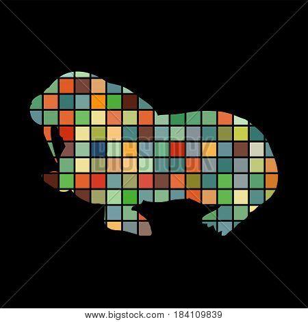 Walrus arctic color silhouette animal. Vector Illustrator.