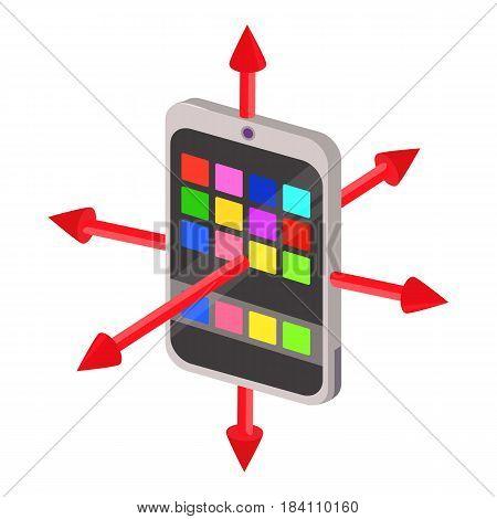 Colorimeter icon. Cartoon illustration of colorimeter vector icon for web