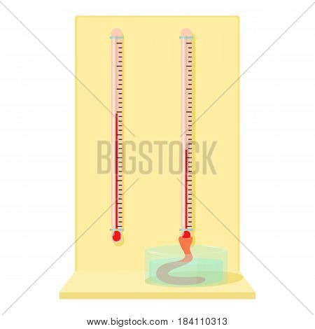 Blood test tubes icon. Cartoon illustration of blood test tubes vector icon for web