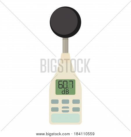 Sound level meter icon. Cartoon illustration of sound level meter vector icon for web