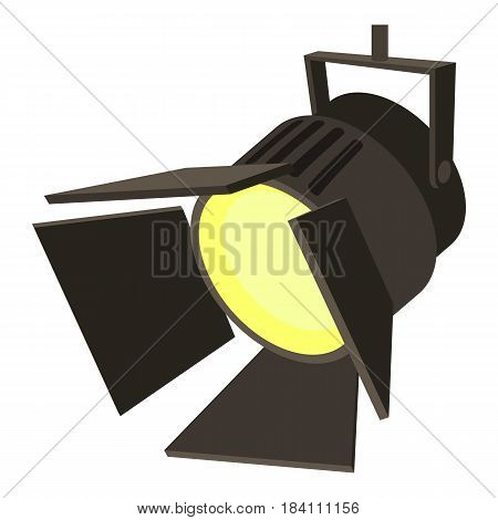 Movie or theatre spotlight icon. Cartoon illustration of movie or theatre spotlight vector icon for web